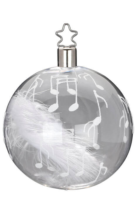 Ball 8 cm, Music & Feather, transparent