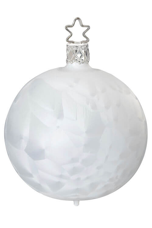 Ball, Ice Crystal, White Ice-Lacquer