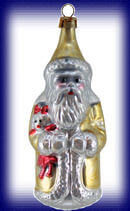 Golden Santa with Doll