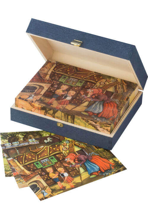 Grimm's Fairytale Cubes Puzzle In Wooden Box
