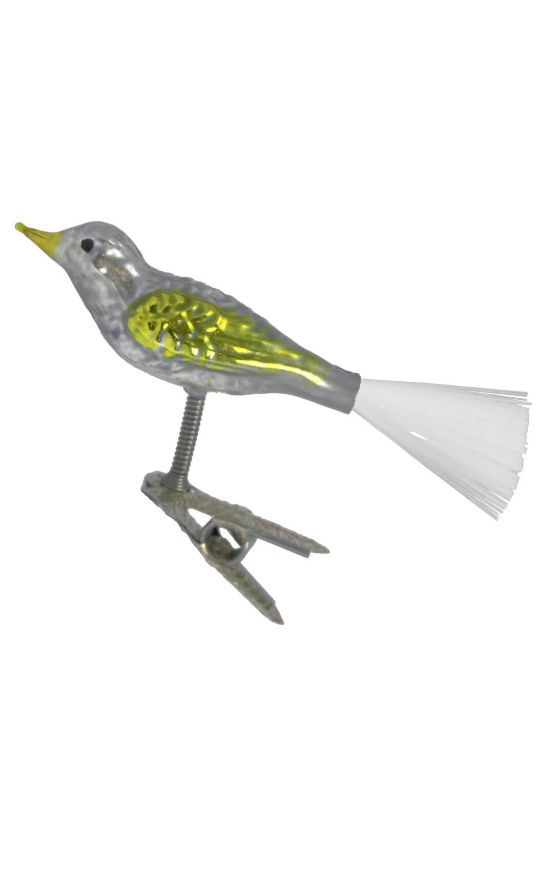 Small Yellow Clip-On Bird