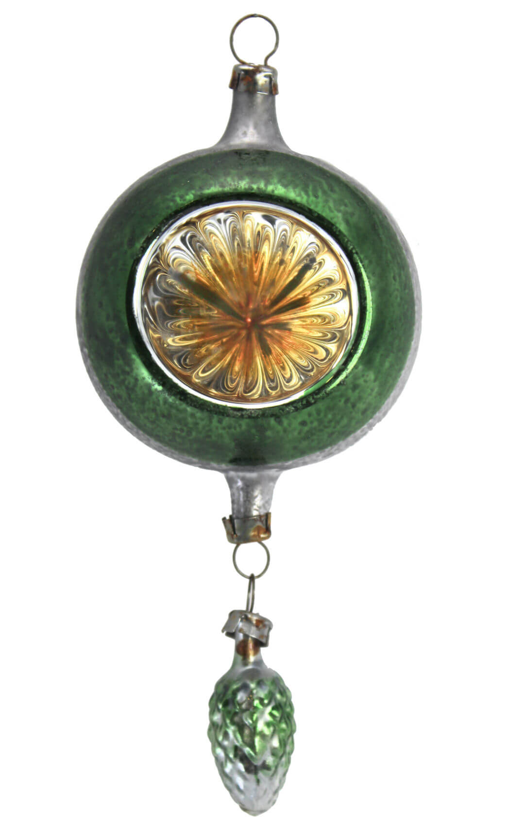 Green Reflector with Suspended Green Cone