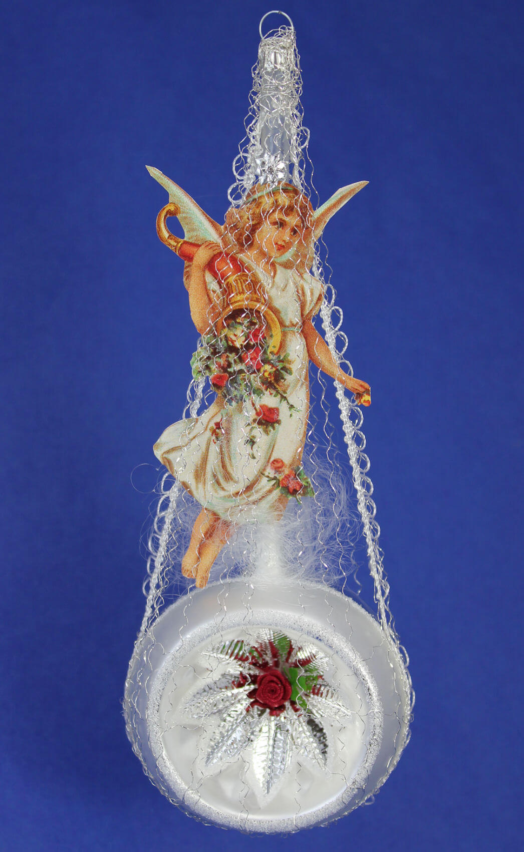 Victorian Angel Above Silver Reflector