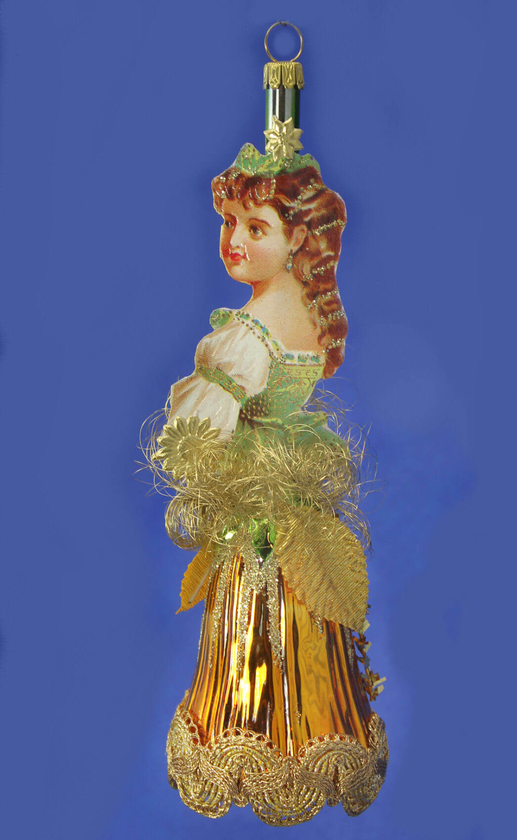 Victorian Princess Bell With Gold Dress
