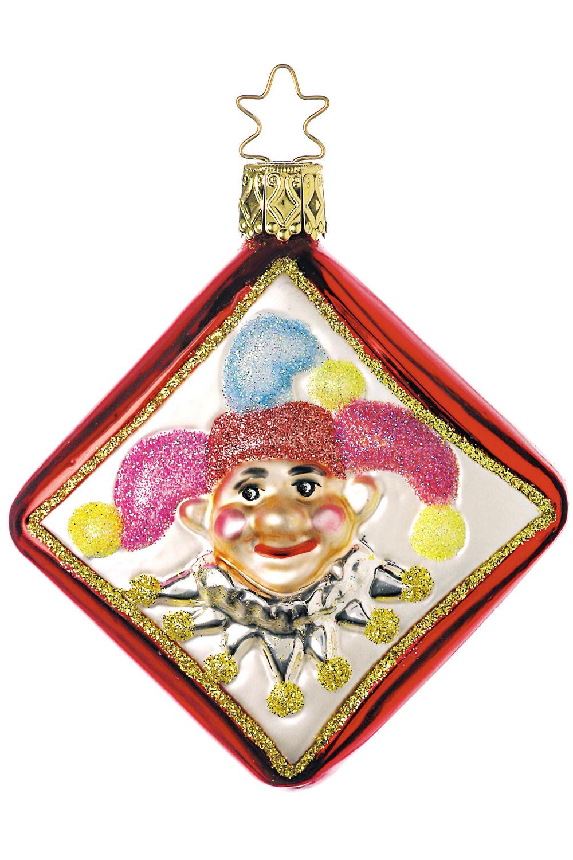 Joker Christmas Ornament.Joker Inge Glas Ornaments Authentic German Christmas Ornaments