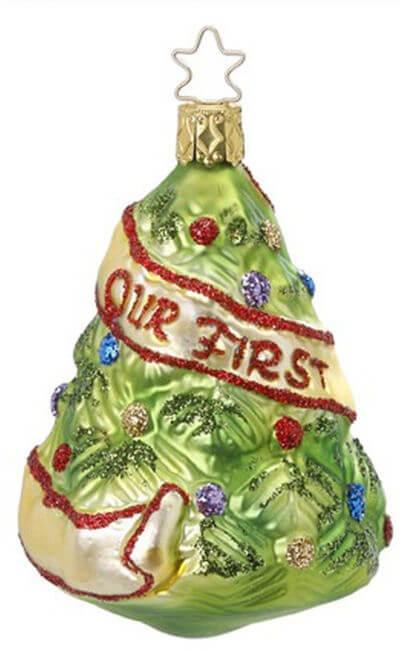 newlyweds tree inge glas ornaments authentic german christmas