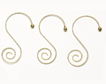 S Shape Ornament Hangers - Gold