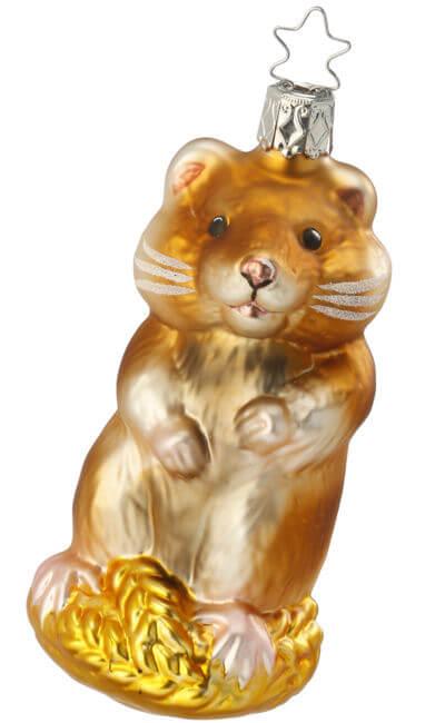 Herbie Hamster - Herbie Hamster Inge-Glas Ornaments, Authentic German Christmas