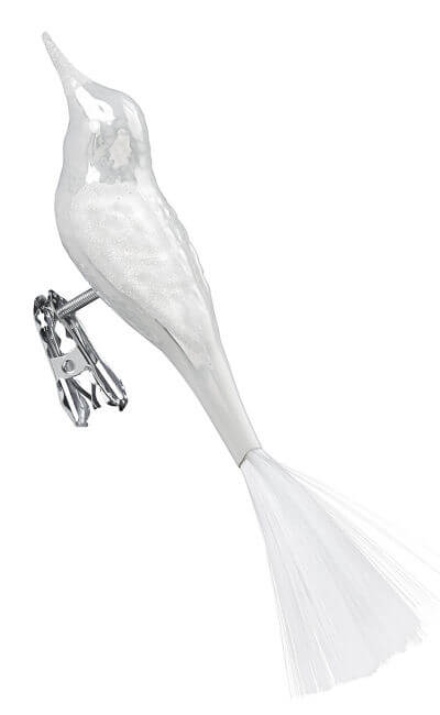 Bird, porcelain white pearl