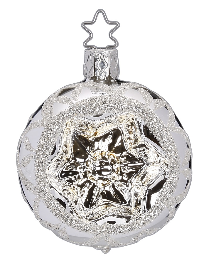 Reflector Ball 6 cm, Winterlove, silver shiny