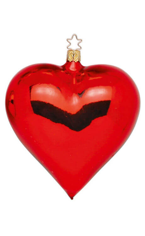 Heart, red shiny