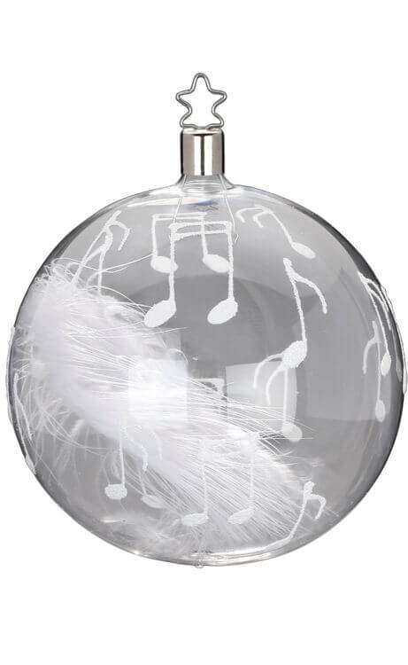 Ball 10 cm, Music & Feather, transparent