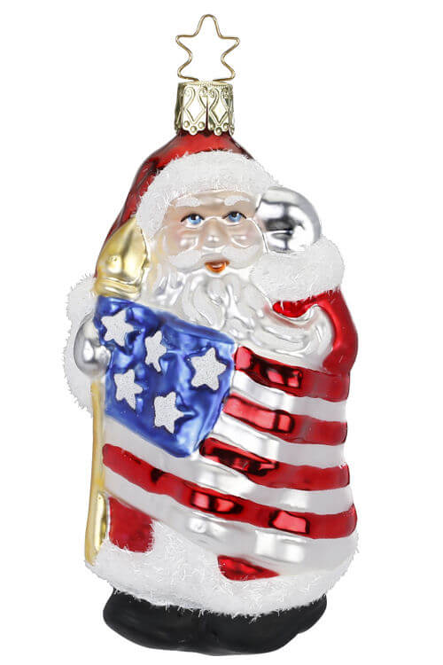 Patriotic Santa, Santa's Salut, Red White Blue