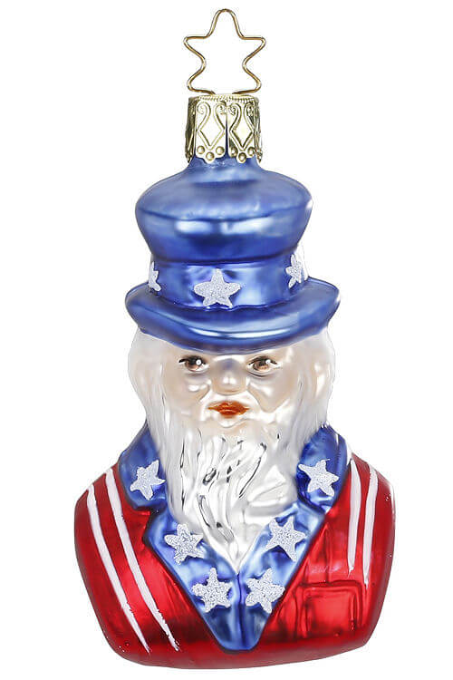 Patriotic Uncle Sam, I Want You , Red White Blue