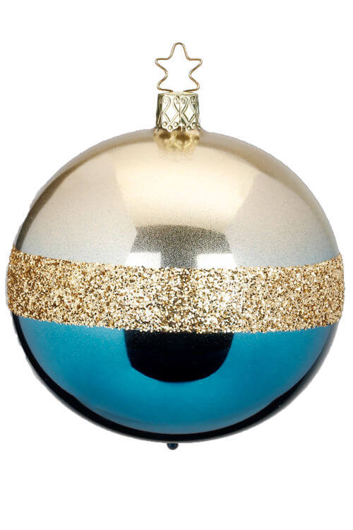 Ball, Twin, Turquoise Blue Shiny