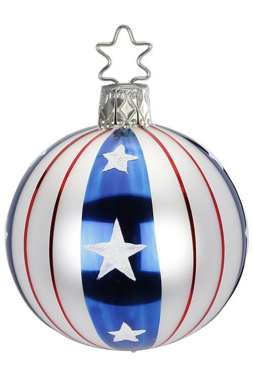 Ball, Stars and Stripes, Red White Blue, 6cm