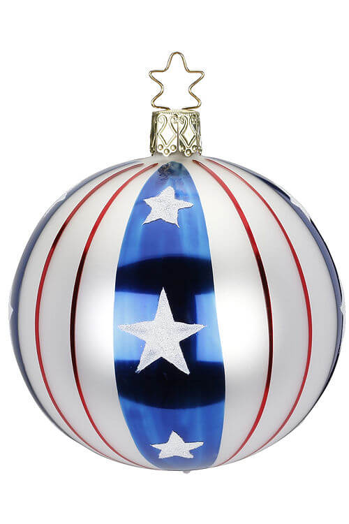 Ball, Stars and Stripes, Red White Blue, 8cm