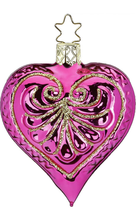Heart Hot Pink Shiny