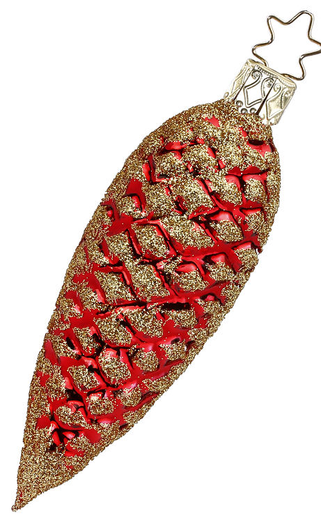 Fir Cone Red Shiny