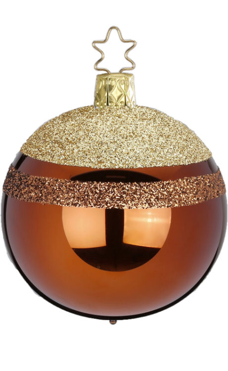 Ball Glitter Top 6cm Hazelnut Shiny