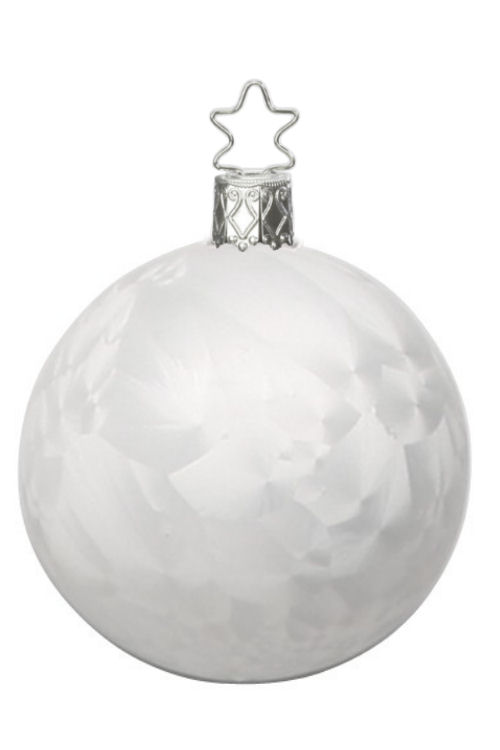 Ball 8cm White Ice Lacquer