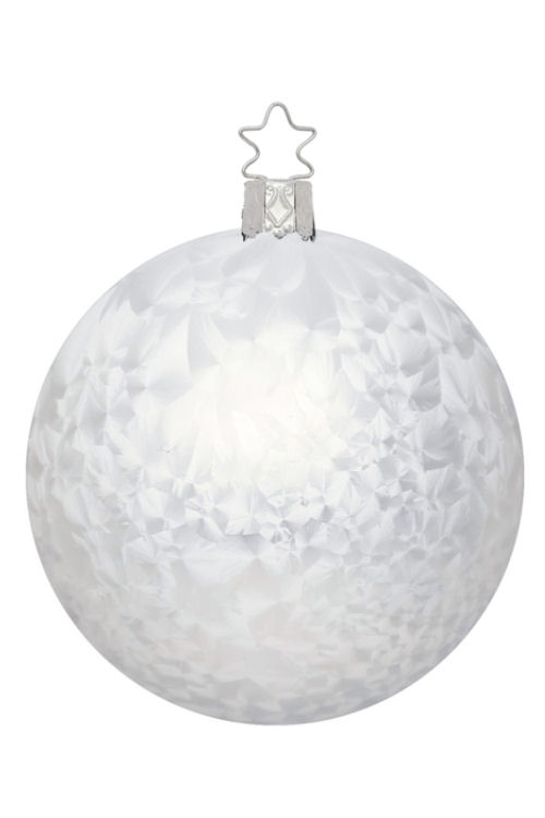 Ball 10cm White Ice Lacquer