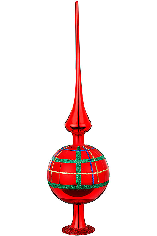 "Finial 14"" Squared red Shiny"
