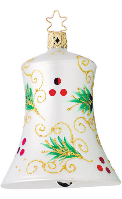 Holly Boughs Bell - Large
