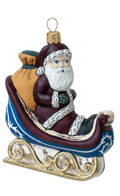 Santa with Clear Sleigh