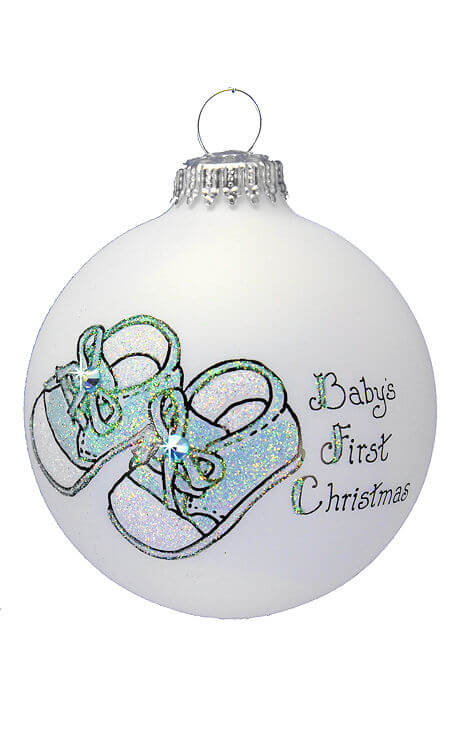 baby boy booties - Baby Boy First Christmas Ornament