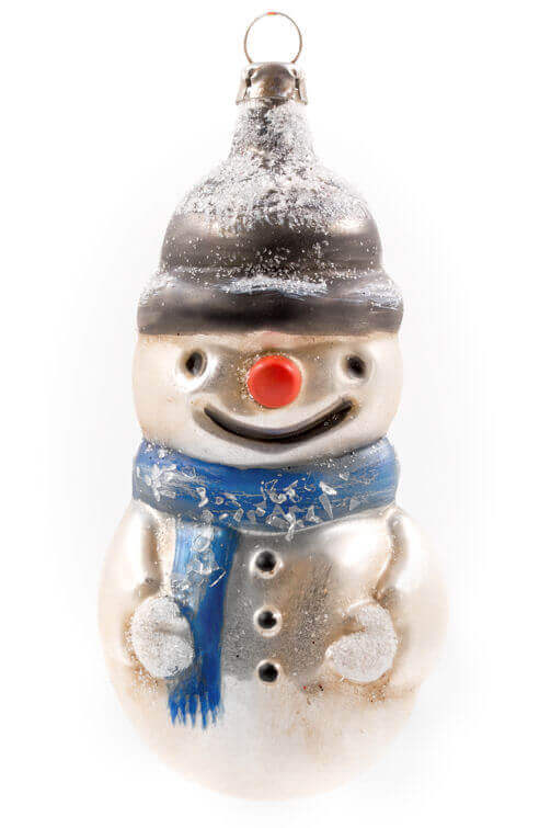 Snowman with scarf with glitter
