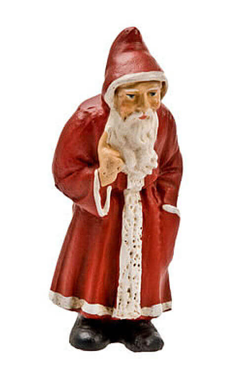 Papiermaché Ornament *Old Santa* Red