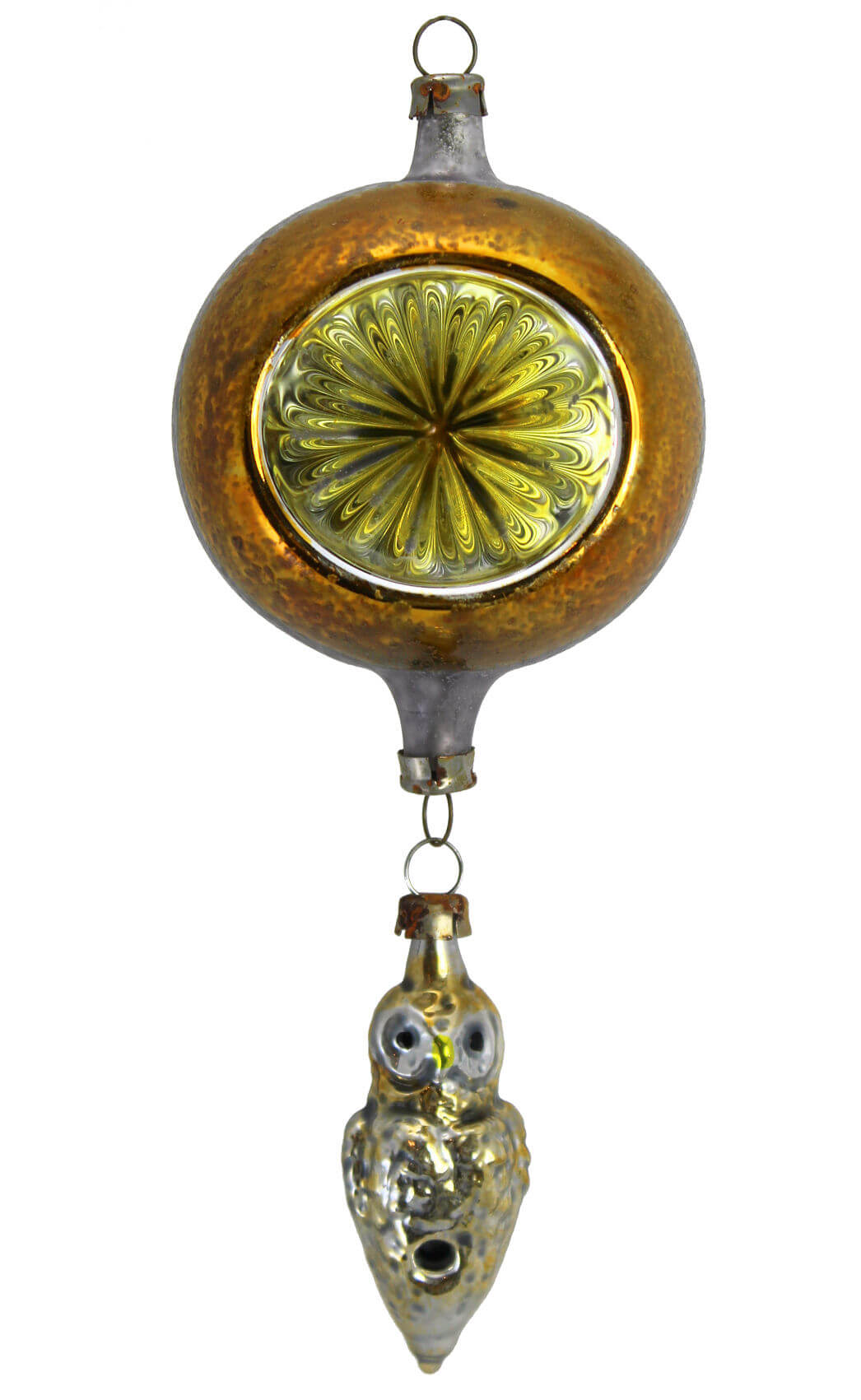 Yellow Reflector with Suspended Yellow Owl