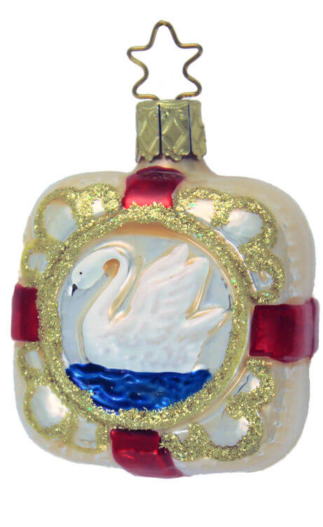 Swan Lake Inge Glas Ornaments Authentic German Christmas Ornaments