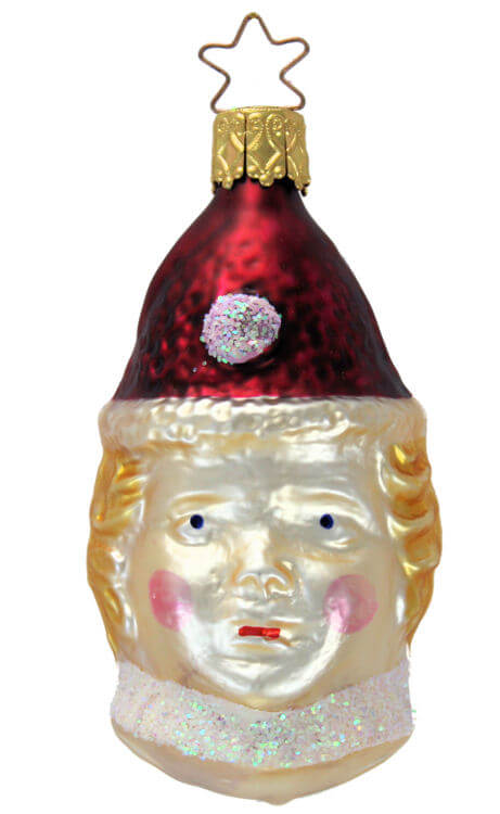 Clown Head with Burgundy Hat