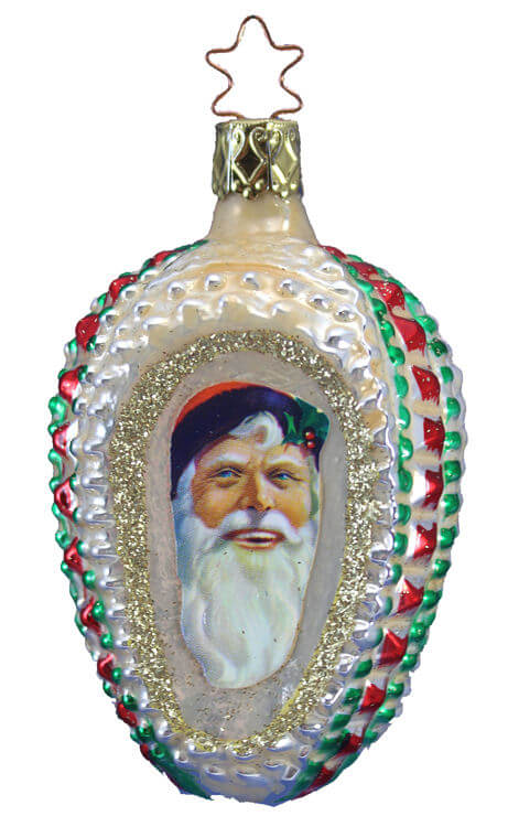 Victorian Santa Keepsake - 3 Sided Ornament