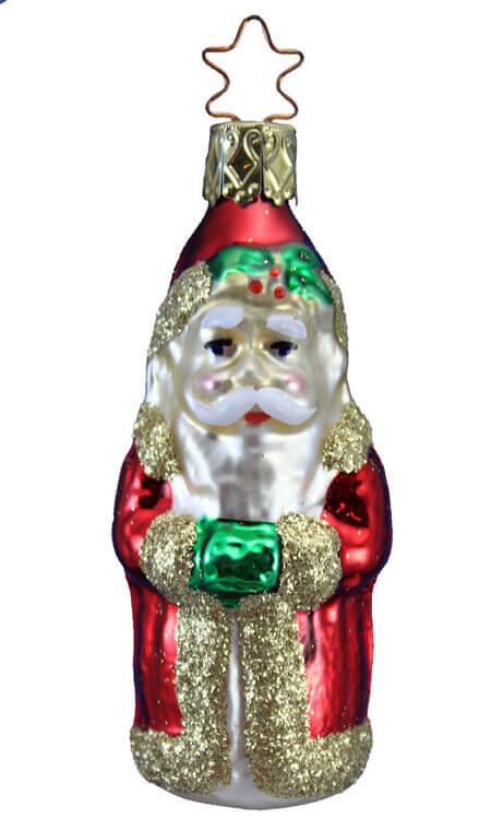 German Christmas Ornaments.Santa With Muff