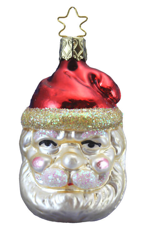 Jovial Santa Head - Red