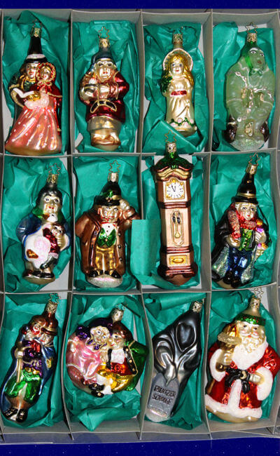 A Christmas Carol - Gift Set | Inge-Glas Ornaments, Authentic German Christmas Ornaments